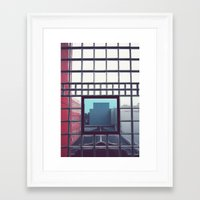 grid Framed Art Prints featuring Grid by Ubik Designs