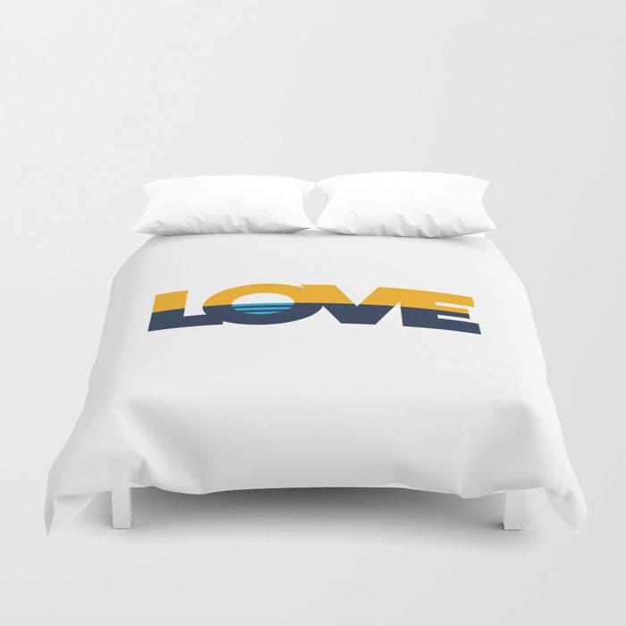 LOVE - People's Flag of Milwaukee Duvet Cover