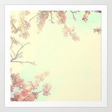 Lovely Flowers in the Sky  Art Print