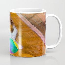Sheltie with Ball Coffee Mug