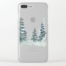 a walk through the woods Clear iPhone Case