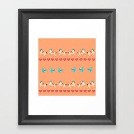 GENTLE  HORSE AND FELLOW BIRD Framed Art Print