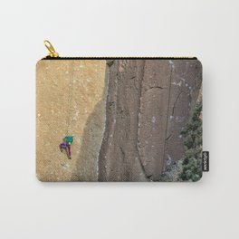 Rock Climbing At Smith Rock, No. 2 Carry-All Pouch