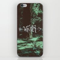 wander iPhone & iPod Skins featuring Wander by Leah Flores