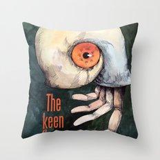 The keen finger Throw Pillow
