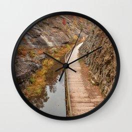 Paw Paw Boardwalk Trail Wall Clock