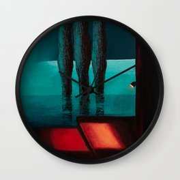 On the edge of the earth Wall Clock