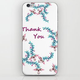 thank you card iPhone Skin