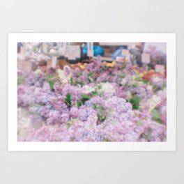 Lilacs, Union Square Farmers Market Art Print