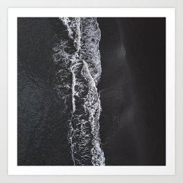 Black Sand Beach II Art Print