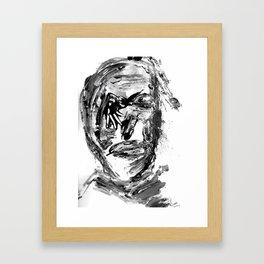 FACE EXPLOSIVE VI. Framed Art Print