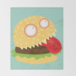Monster Burger Throw Blanket