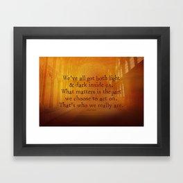 HARRY POTTER // SIRIUS BLACK Framed Art Print