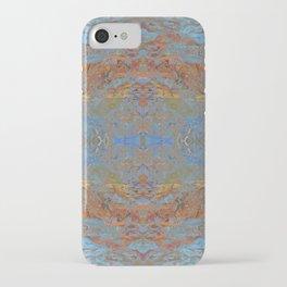 Fall blue geometry iPhone Case