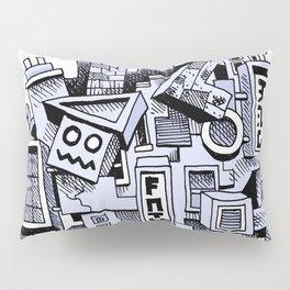 Jumbled City full of assorted junnk Pillow Sham