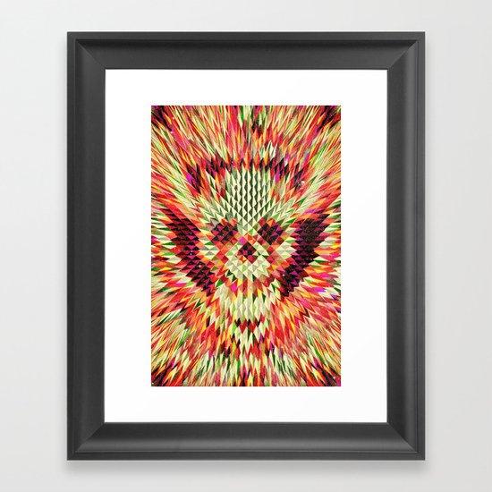 Geo Skull Framed Art Print