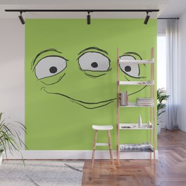 Alien Face Wall Mural