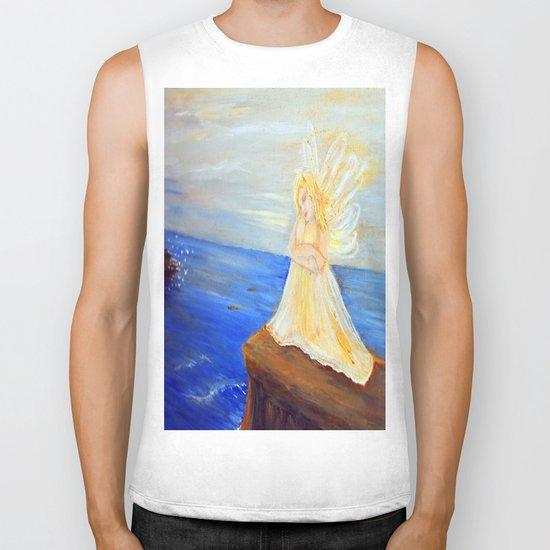Invite your Angel   Angels are here Biker Tank