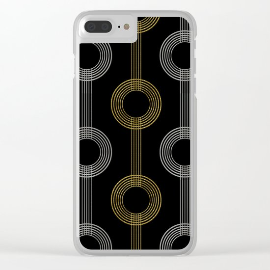 GUITAR IN ABSTRACT GS  (art deco) Clear iPhone Case