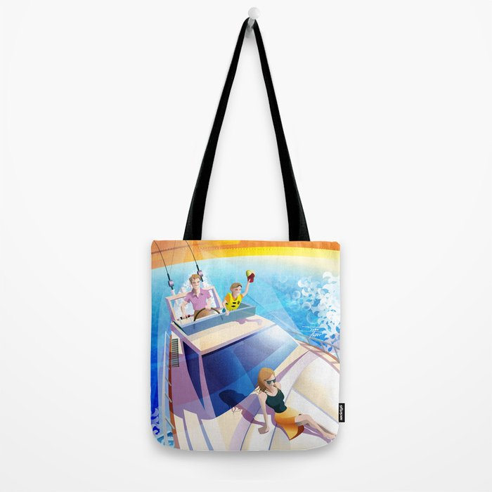 FAMILY ON YACHT Tote Bag
