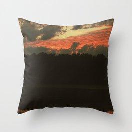 Fiery Skies Throw Pillow