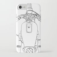 motorbike iPhone & iPod Cases featuring Motorbike by Jessica Slater Design & Illustration