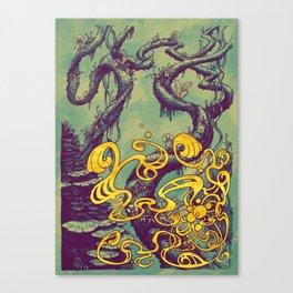 Epiphycadia III: Teal Canvas Print