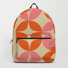 Mid Century Modern Pattern in Pink and Orange Backpack