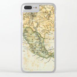 North America Vintage Encyclopedia Map Clear iPhone Case