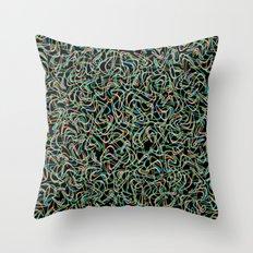 Boomerang Neon Throw Pillow
