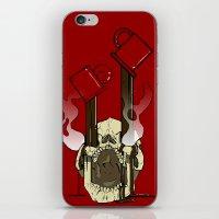 pocket fuel iPhone & iPod Skins featuring Skull Fuel by Allbrotnar