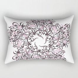 flower arabic letters Rectangular Pillow