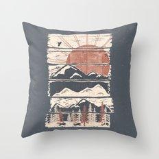 Winter Pursuits... Throw Pillow