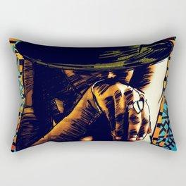 Cool hat Rectangular Pillow