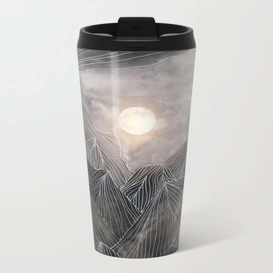 Lines in the mountains VIII Metal Travel Mug