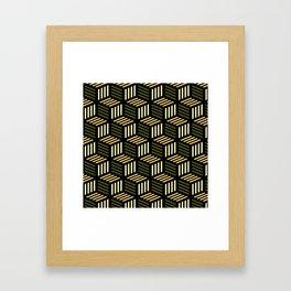 Cubic Olive Framed Art Print