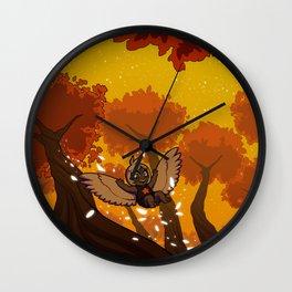 Harp's Sunset Flight Wall Clock