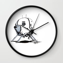 ADORE-A-BOT Wall Clock