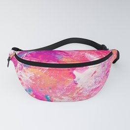 Vibrant Colorful Abstract Splatter Painting with Glitter Fanny Pack