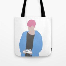 Jimin Spring days Pink Hair silhouette Tote Bag