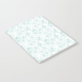 Floral Freeze White Notebook