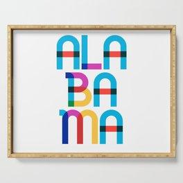 Alabama State Mid Century, Pop Art Mondrian Serving Tray