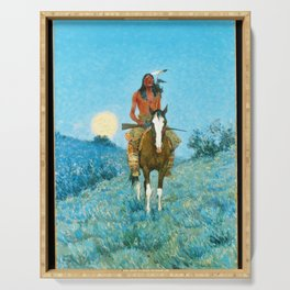 The Outlier by Frederic Sackrider Remington Serving Tray