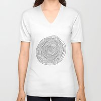 circles V-neck T-shirts featuring circles by Irma Ibric