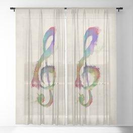 Treble Clef Sheer Curtain