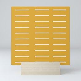 organic / yellow Mini Art Print