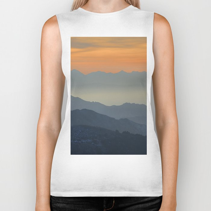 """""""Sunset at the mountains"""". Dreaming... Biker Tank"""