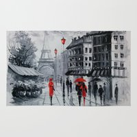 paris Area & Throw Rugs featuring Paris by OLHADARCHUK