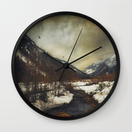 Wild Winter Valley Wall Clock