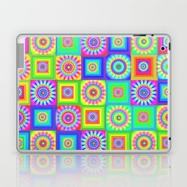 Multicoloured Patchwork Flowers Hippy Style Laptop & iPad Skin